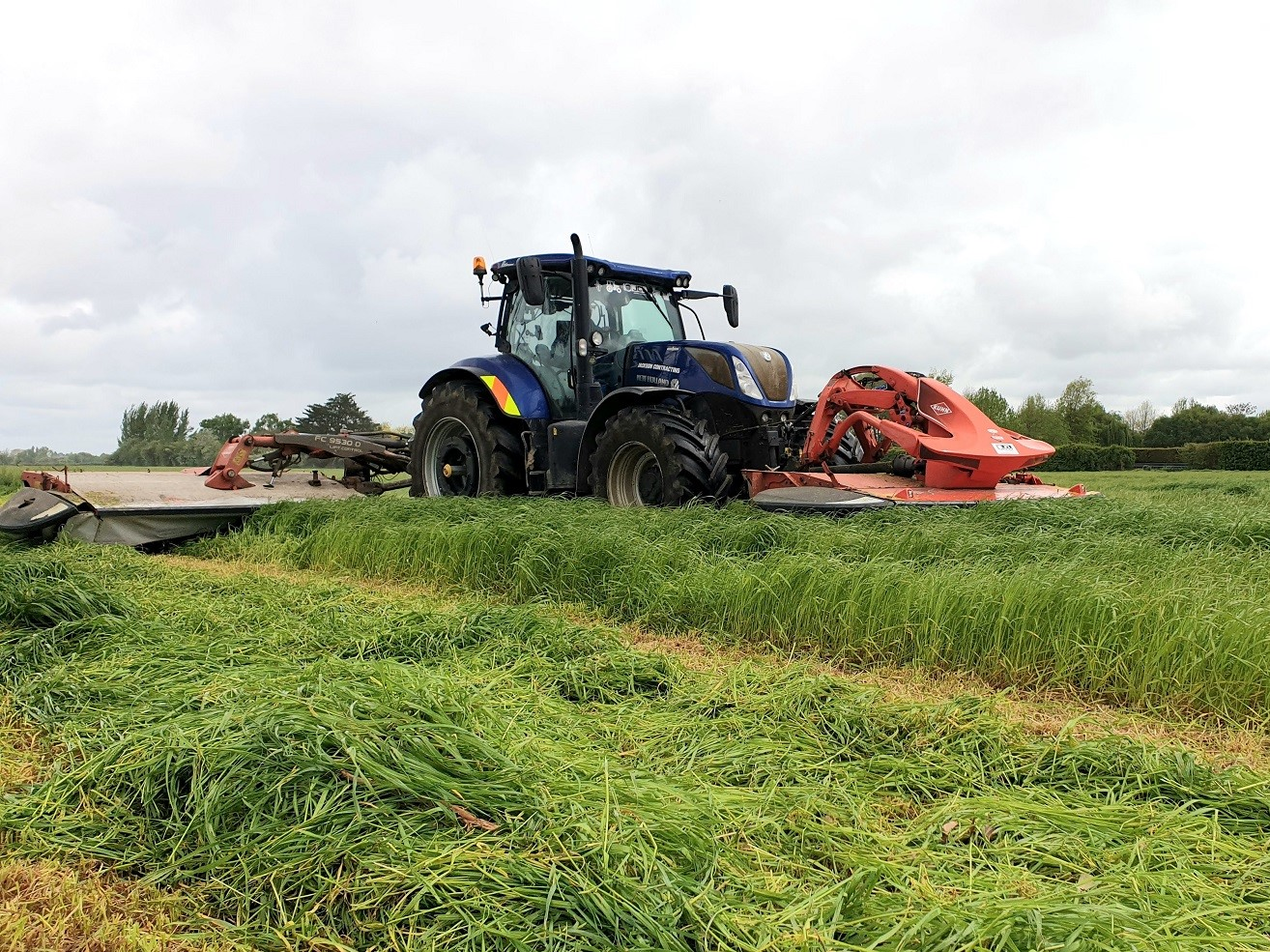 Grass Silage Mowing